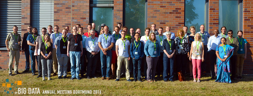 Group Photo - SPP 1736 BIG DATA Annual Meeting Dortmund 2016